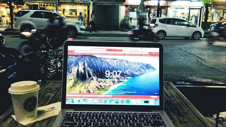"""Unique """"office"""" views - the best part of being a Digital Nomad."""