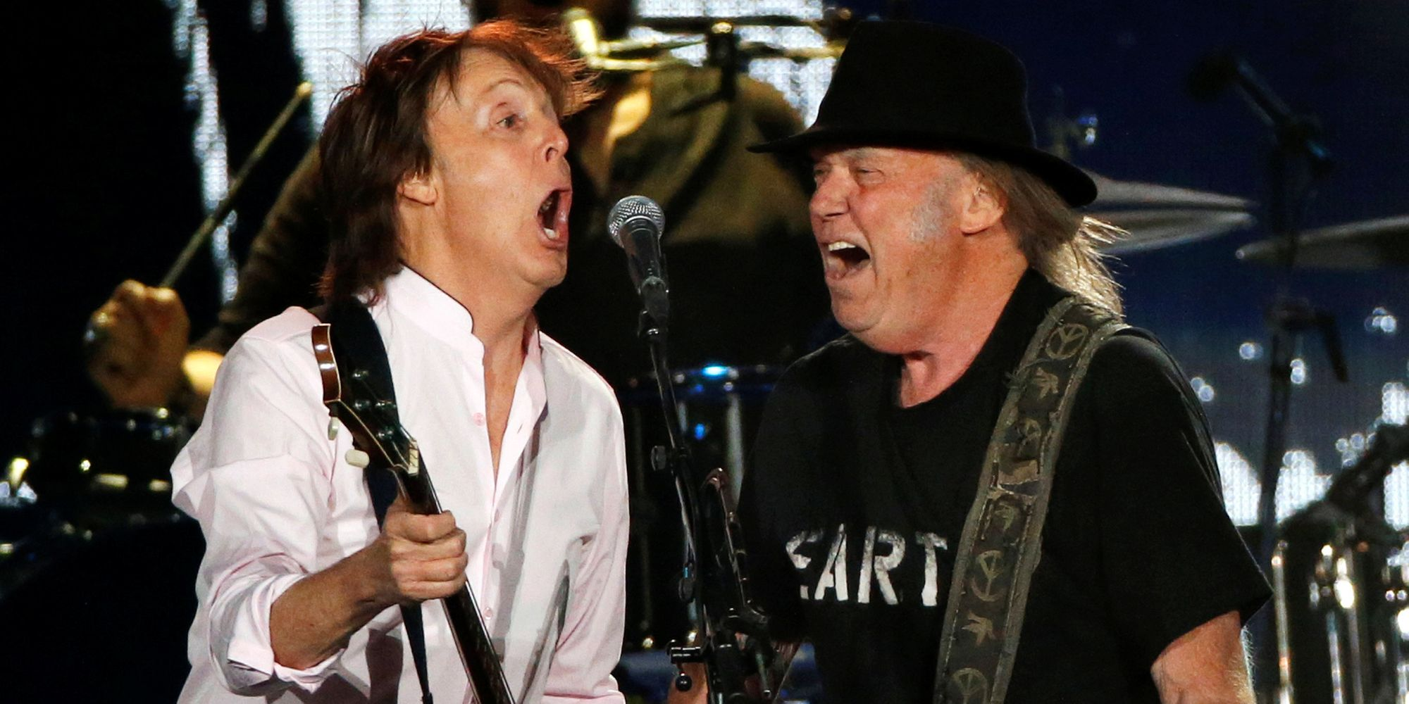 Paul McCartney And Neil Young Perform Beatles Classics At Desert Trip Music Festival