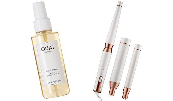 Ouai Haircare Wave Spray (£22), T3 Whirl Trio Interchangeable Styling Wand