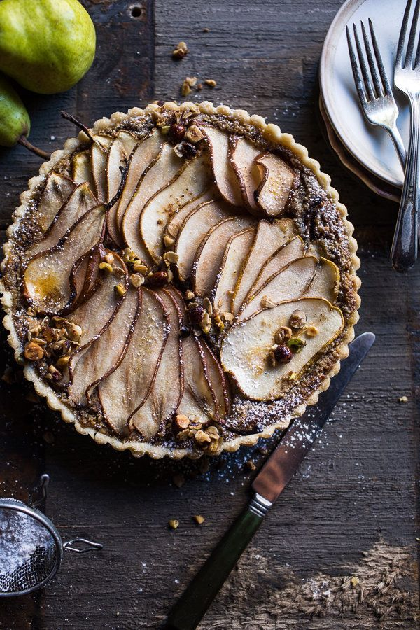 "<strong>Get the <a href=""http://www.halfbakedharvest.com/caramelized-pear-and-hazelnut-crumble-tart/"" target=""_blank"">Caramel"