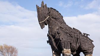 Movie replica of the Trojan Horse (used in the movie 'Troy')