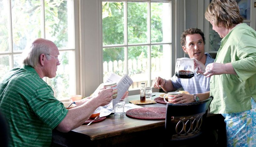 Terry Bradshaw, Matthew McConaughey and Kathy Bates in FAILURE TO LAUNCH, 2006.