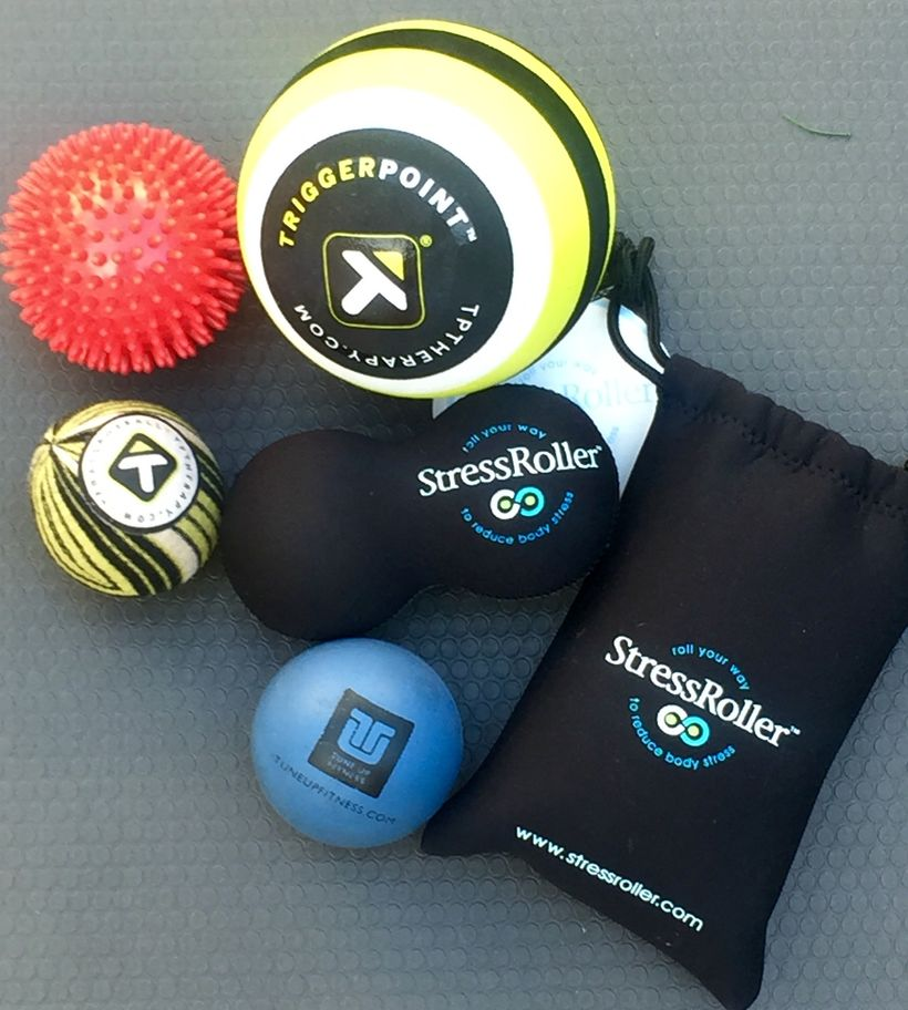 My arsenal of massage balls