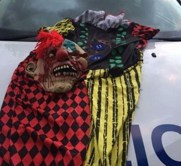 A picture of clown costumes tweeted by Oxford