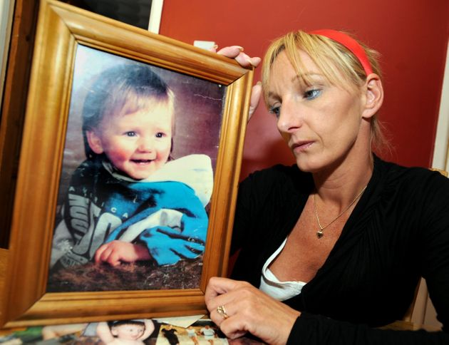 Kerry Needham with a picture of her beloved son