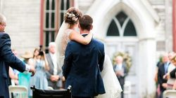 Romantic Groom Lifts Bride From Wheelchair And Carries Her To Their