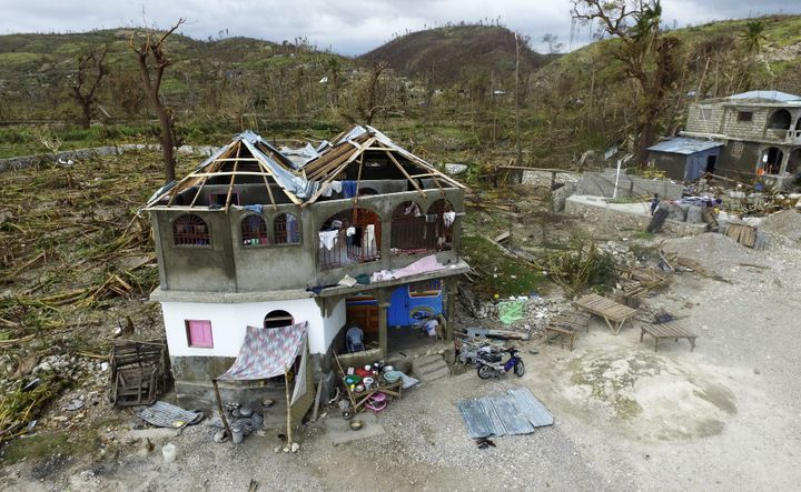 The destruction caused by Hurricane Matthew in Port-Salut, southwest of Port-au-Prince in Haiti.