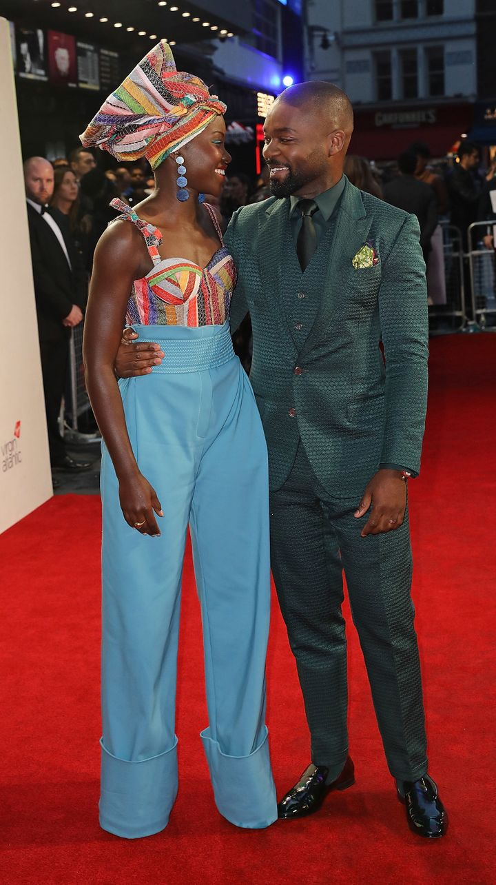 Nyong'o with fellow well-dressed co-star David Oyelowo.