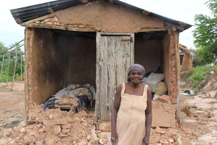 Hurricane Matthew destroyed many homes on Haiti's Lagonav Island, including this woman's. The nonprofit Beyond Borders wants