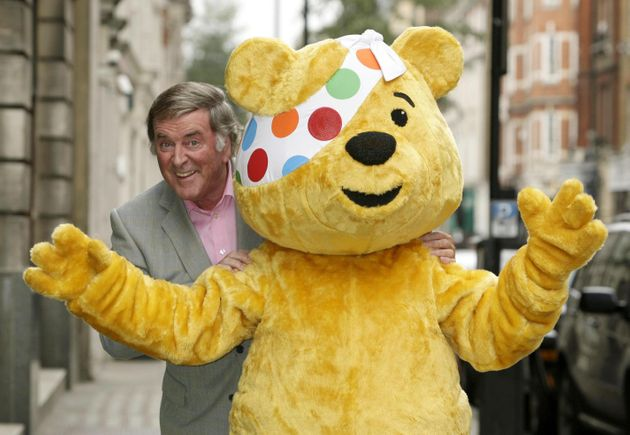 Sir Terry with Pudsey the