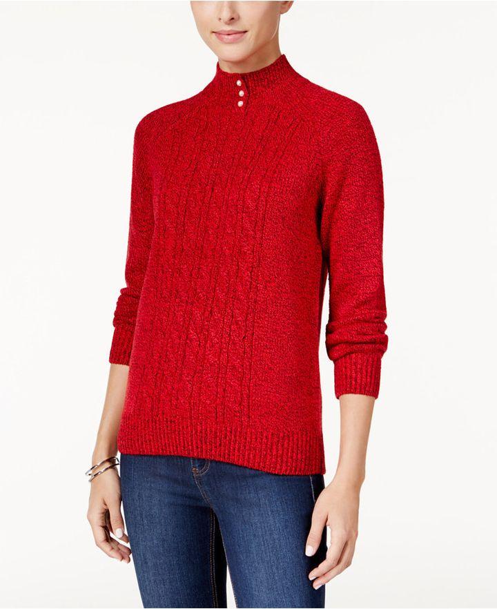 "<a href=""http://www1.macys.com/shop/product/karen-scott-mock-neck-cable-knit-sweater-only-at-macys?ID=2966529&amp;pla_country=US&amp;CAGPSPN=pla&amp;CAWELAID=120156340008209934&amp;CAAGID=15360183061&amp;CATCI=pla-86090888461&amp;catargetid=120156340001256910&amp;cadevice=c&amp;cm_mmc=Google_Womens_PLA-_-RTW+Womens_Womens+Sweaters+-+GS_Karen+Scott-_-66681423061-_-pg43934_c_kclickid_b1dc1484-6f01-420b-960c-0b46d06af0fa&amp;trackingid=424x43934&amp;gclid=CKej1c3O0M8CFc5ZhgoddhoBDA"" target=""_blank"">Karen Scott Mock-Neck Cable-Knit Sweater, $23.99</a>"