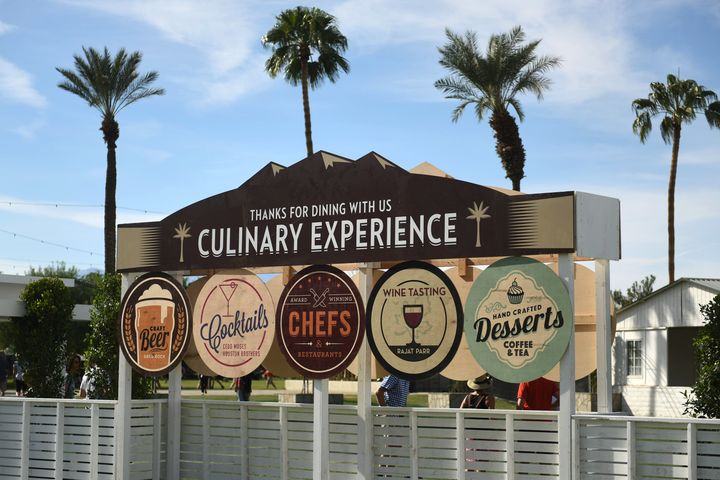 The Culinary Experience at Desert Trip 2016.