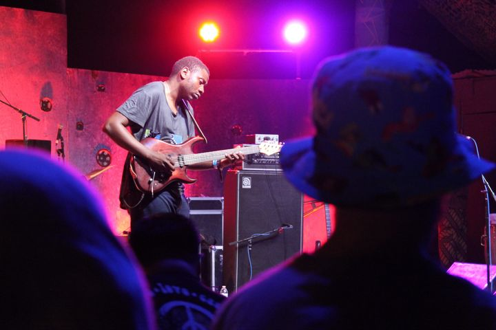 Zimbabwe-based Afro-funk band Mokoomba performed Friday night.