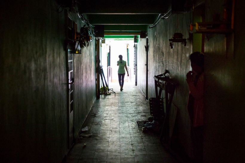 In the corridors of a brothel community in Phnom Penh