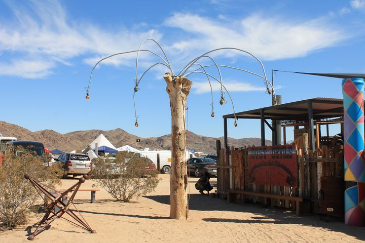 Visual artwork at Joshua Tree Music Festival.