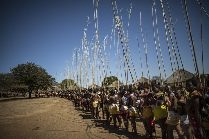 To take part in the annual Reed Dance ceremony South African girls have to undergo testing to prove they are virgins Cultural