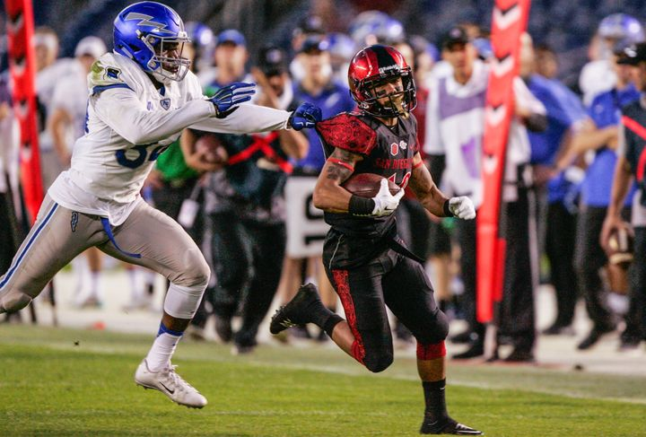 Senior running back D.J. Pumphrey moved into 14th all-time on college football's rushing list.