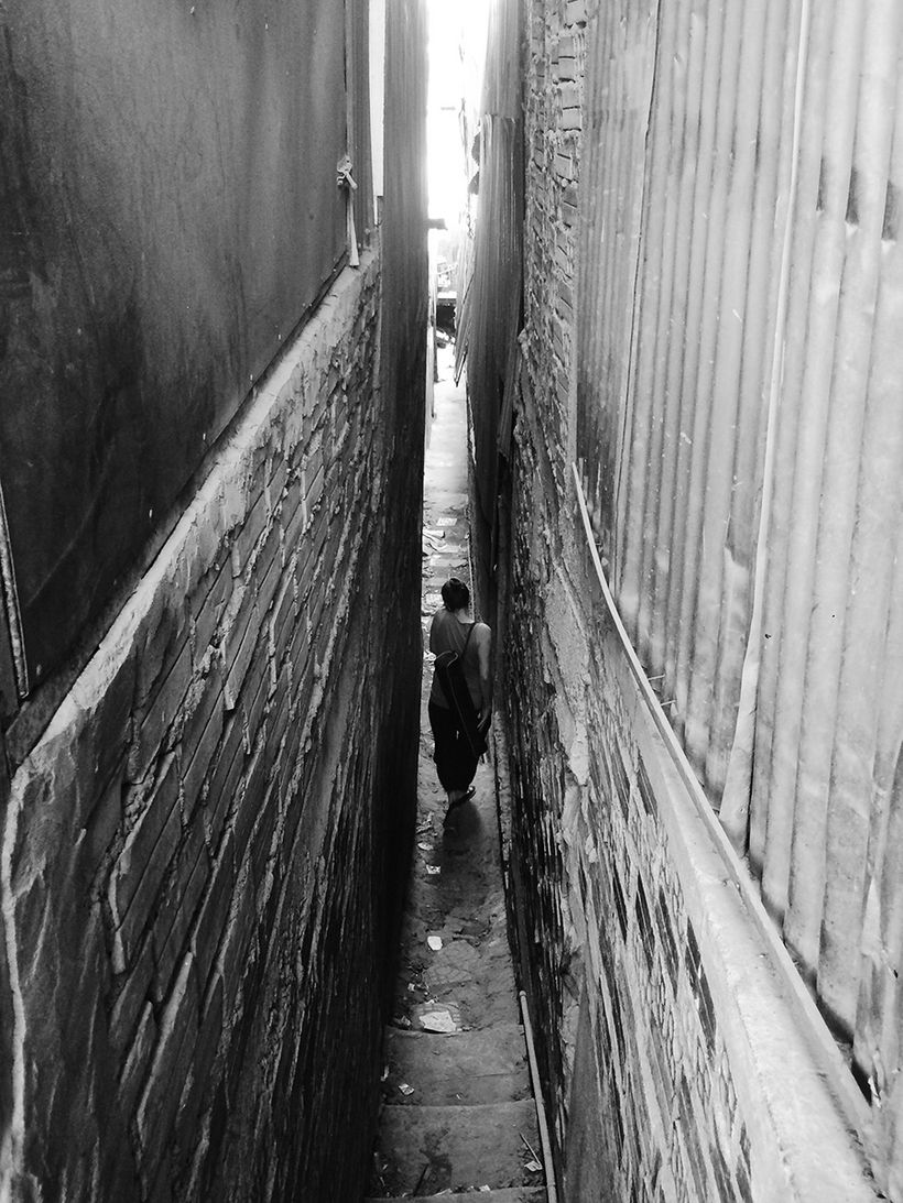 The alleyway to Shanty Town Spirit