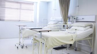 An empty recovery room in a hospital