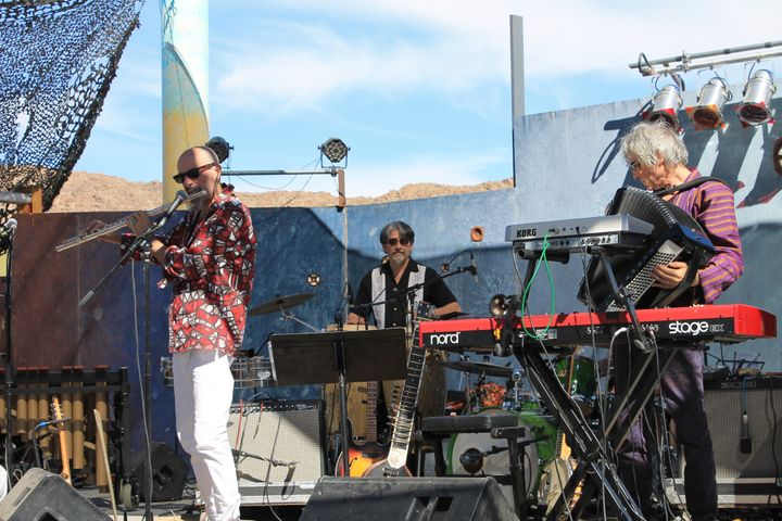 New York City-based band TriBeCaStan performed at Joshua Tree Music Festival on Satuday. October 2016.