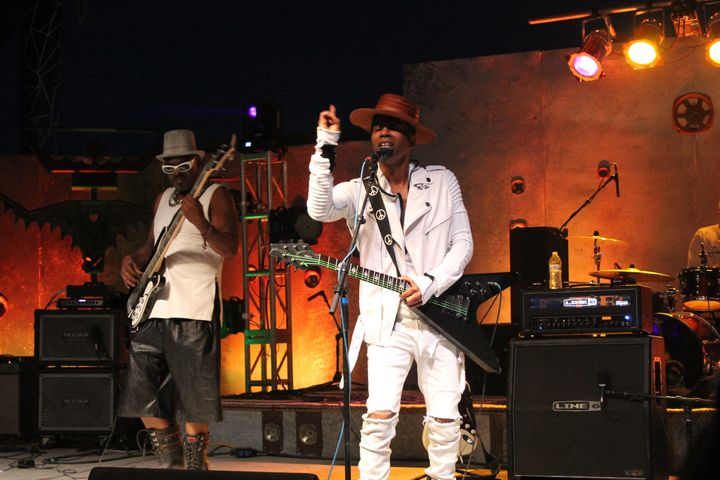 RonKat Spearman of<strong> </strong>Katdelic on Saturday Night. He previously performed alongside George Clinton an