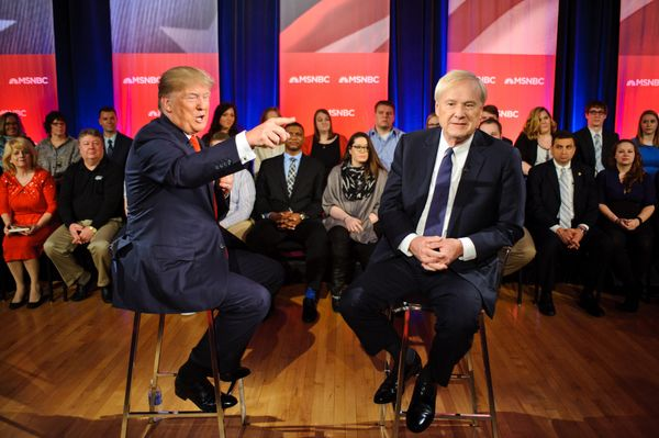 "During a Wisconsin town hall with MSNBC's Chris Matthews, Trump <a href=""http://www.motherjones.com/mojo/2016/03/donald-trump"
