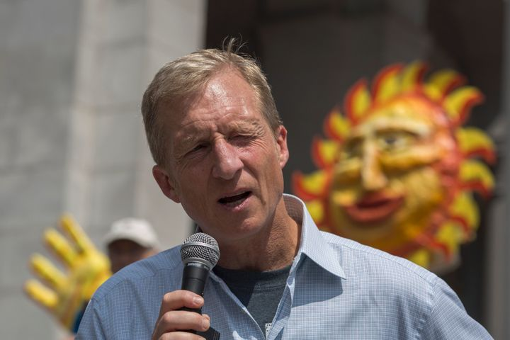 Billionaire environmentalist Tom Steyer is the biggest super PAC donor in the 2016 election.