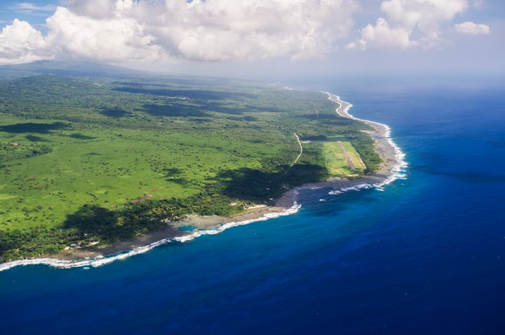 An aerial view of Vanuatu's stunning coastline.