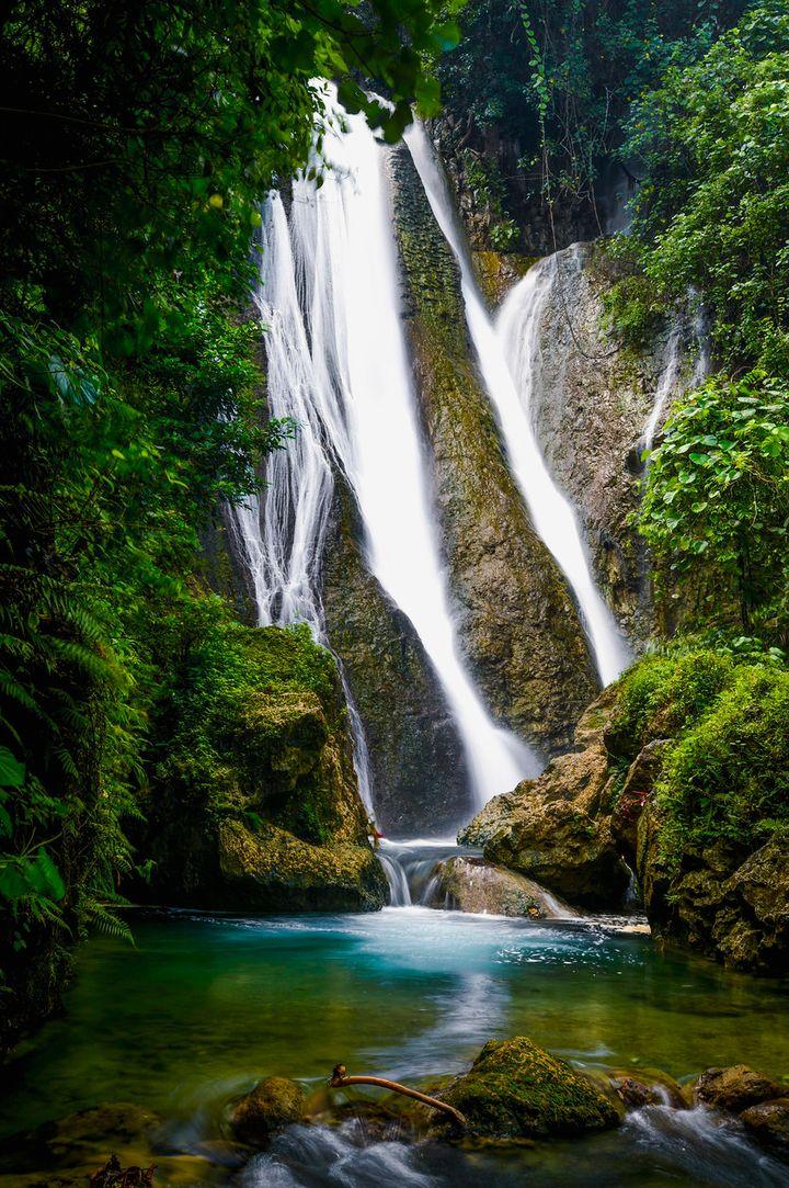 Stunning waterfalls on Tanna Island.