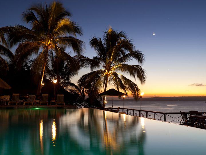 Sunset on Iririki Island.