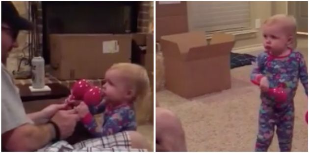 Toddler Makes It Clear Dad Can't Play With Her