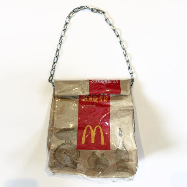 This Designer Is Turning Actual McDonald's Bags Into Fashion