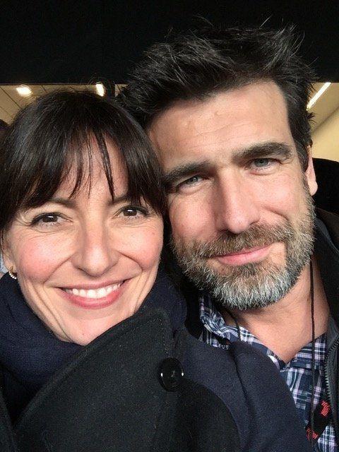 Davina McCall with herhusband Matthew Robertson.