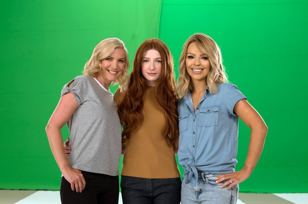 Katie Piper with Lisa Faulkner and Nicola