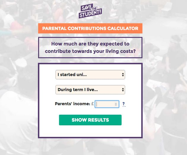 Save the Student's new parental contribution calculator allows parents to work out how much money they...