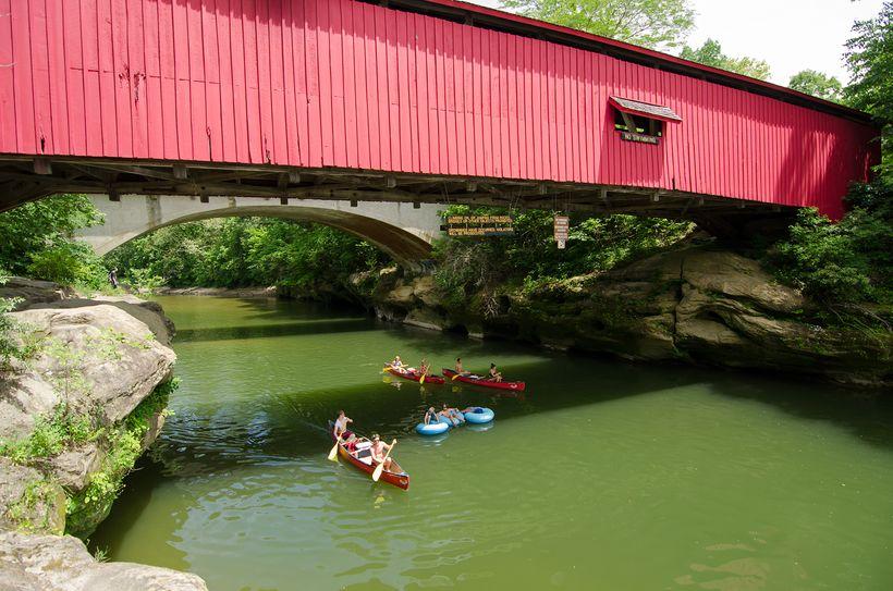 Floating Down Sugar Creek