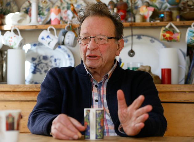 Larry Sanders, pictured at home in his kitchen in Oxfordm is the Green candidate in
