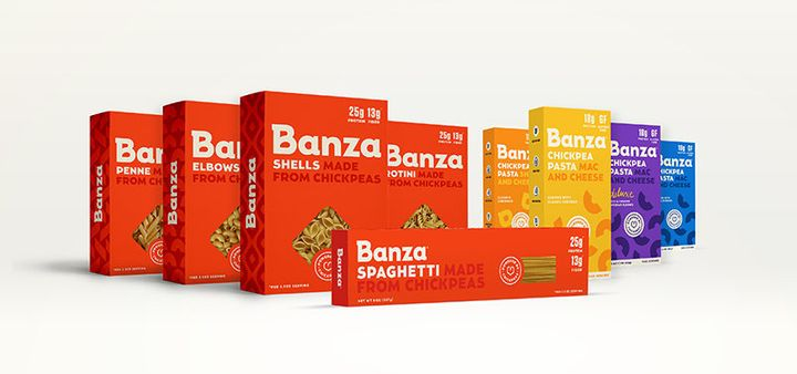 The entire line up of Banza products now available.
