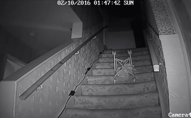 The moment a pushchair hurtled down the stairs in the now notorious Pontfract