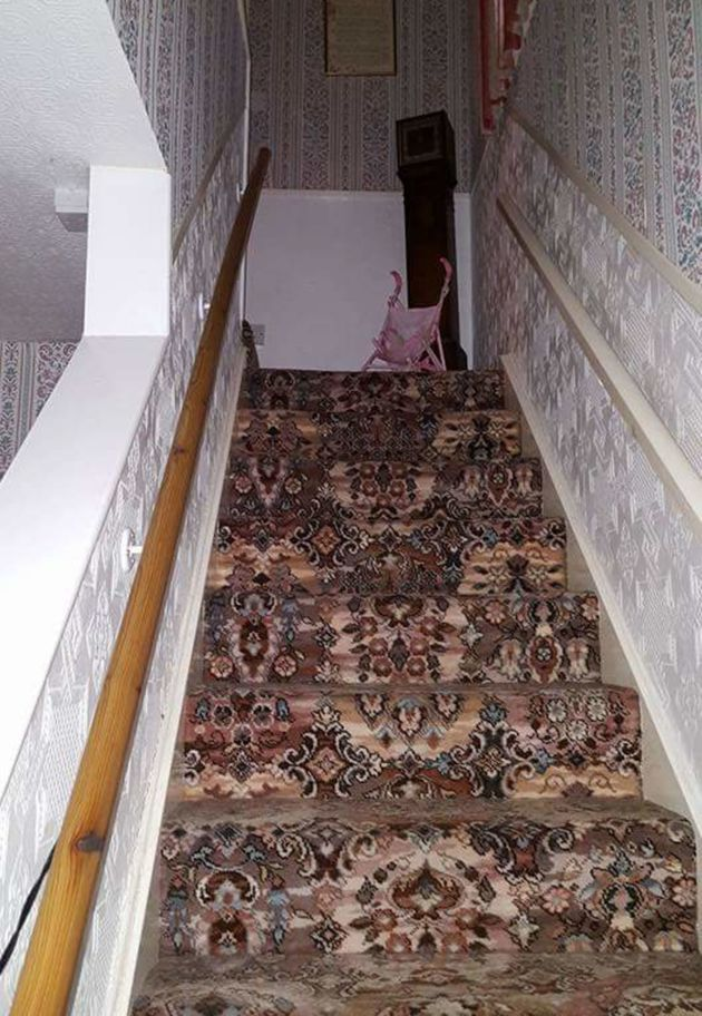 The staircase is the same one where teenager Diane Pritchard was reportedly dragged by the hair by the