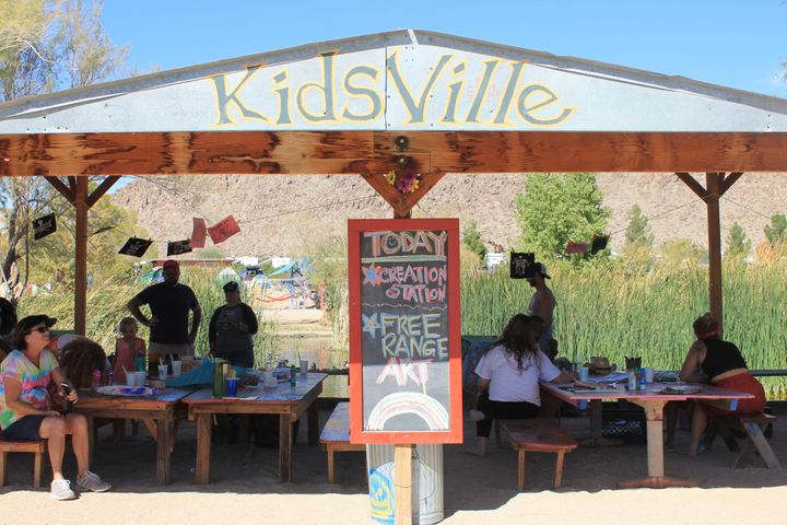 Kids were invited to participate in the festival at the Kidsville station where they did arts and crafts, yoga, dancing,