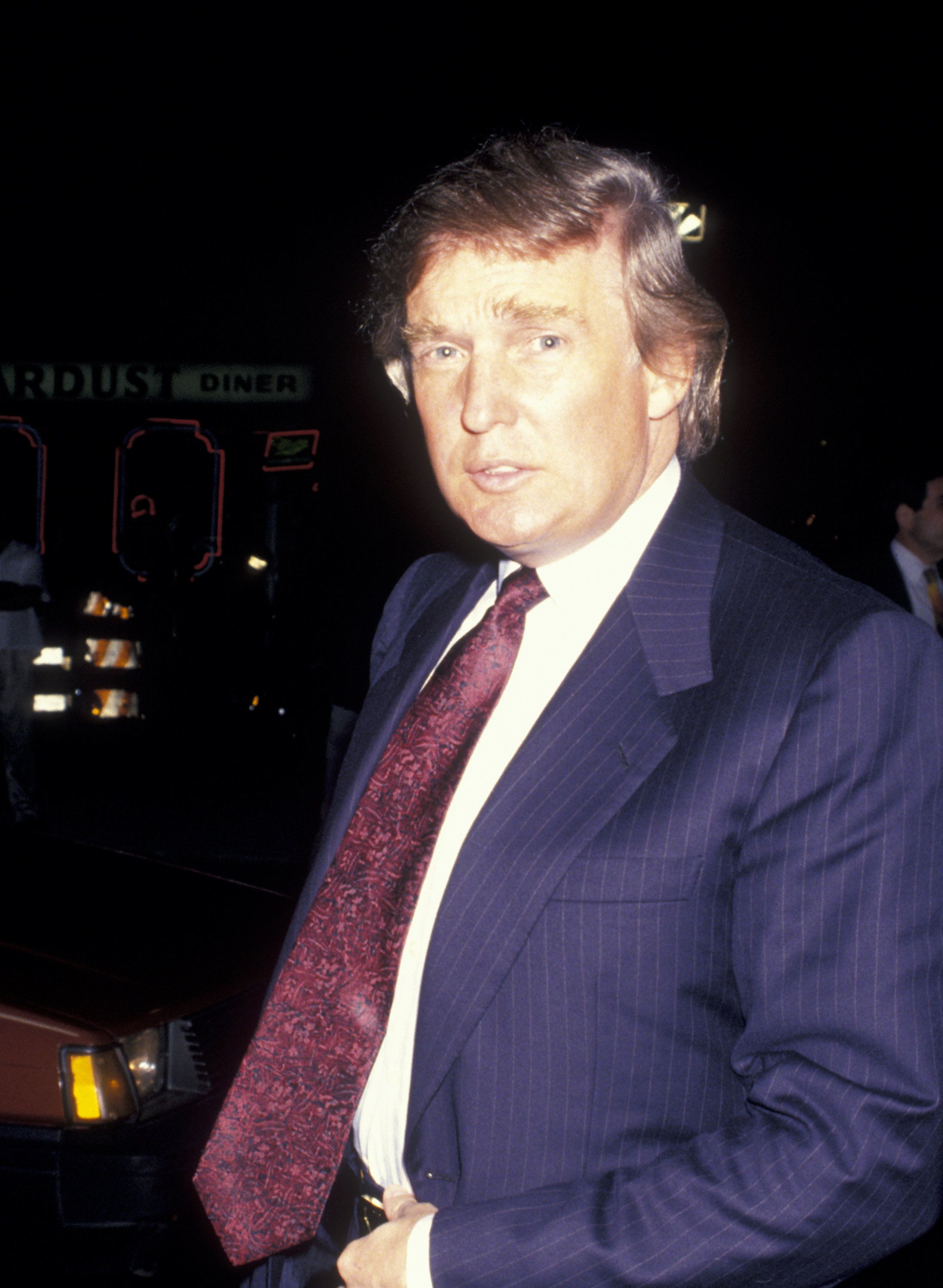Donald Trump in New York City in October 1993, just months after he allegedly sexually assaulted make-up artist Jill Harth.