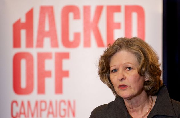 Baroness Sheila Hollins speaking at a Hacked Off press conference in