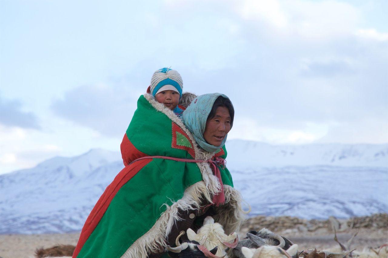 Brokpa and Changpa nomads. Himalaya, India.