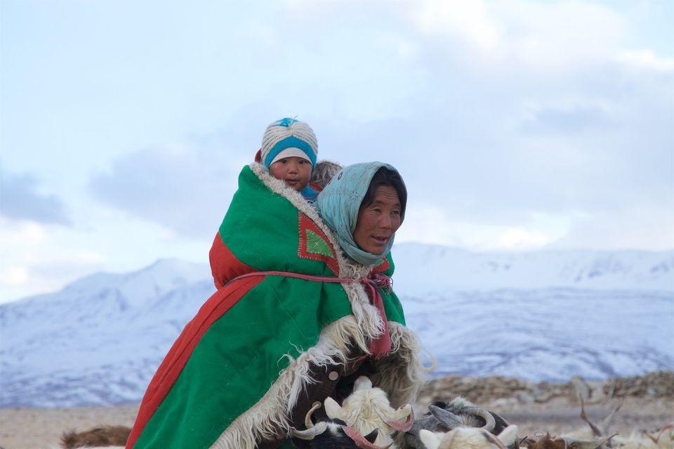 Brokpa and Changpa nomads. Himalaya,