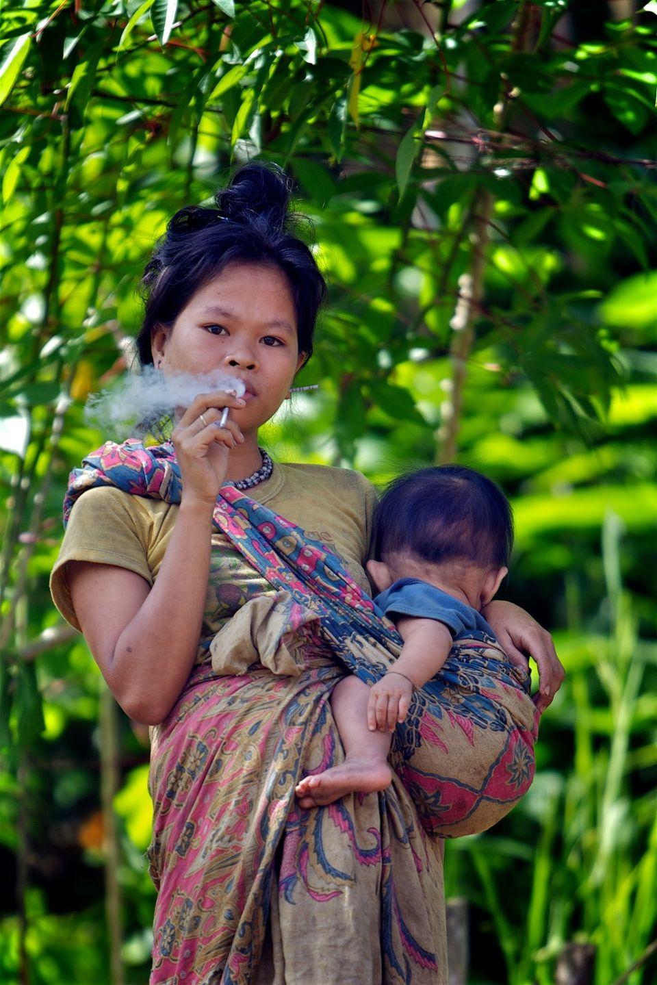 A Taut Batu tribal woman. Palawan,