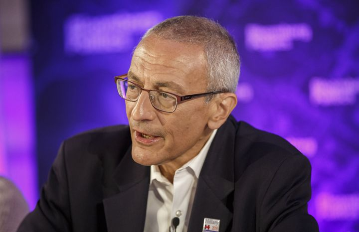 John Podesta, former White House chief of staff under President Bill Clinton, former special adviser to President Barack