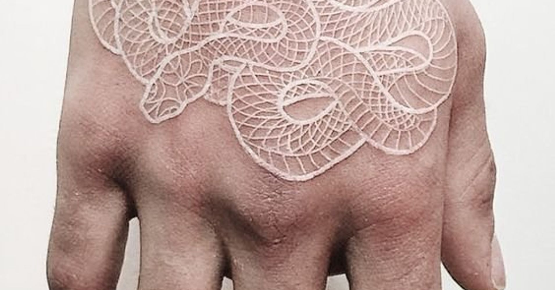 White I N K Tattoos: 24 White Ink Tattoos That No One In The Office Will Even