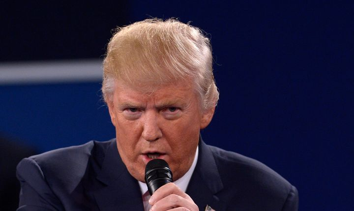 Donald Trump continued to claim that he is self-funding his campaign at the second presidential debate.