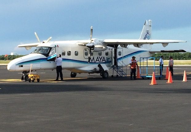 MAYAir Dornier 228 at Cozumel Airport.